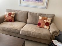 Sofa and pillows in Naperville, Illinois