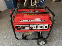 Generator 6000 W, used once in Kingwood, Texas