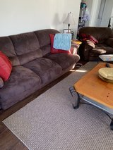 Brown Suede Material Couch and Sofa Chair in Excellent Good Condition in Camp Pendleton, California