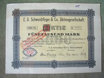 1923 German Stock Certificate:  E.A. Schwerdtfeger & Co. in Ramstein, Germany