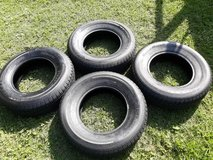 4 virtually brand new trailer tires, less than 300 miles on them 205/75/R14 in Warner Robins, Georgia