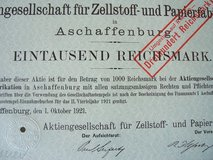 99-year old German Stock Certificate in Wiesbaden, GE