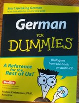 German for Dummies book with CD in Yorkville, Illinois