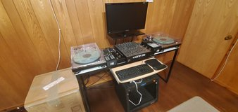 DJ Table/Desk with Odyssey 8U Rack W/Furman RP-8 outlet surge protector in Okinawa, Japan