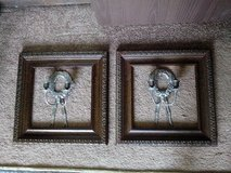 PAIR OF VINTAGE WALL SCONCES WITH MATCHING VINTAGE US-MADE FRAMES in Tinley Park, Illinois