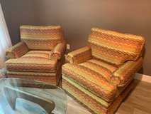 2 - Chairs (swivel & new upholstery) in Kingwood, Texas
