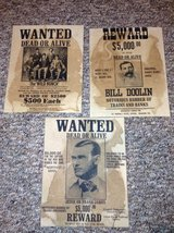 Old Time Style Wanted Posters in Joliet, Illinois