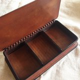 Italian leather box for cigars in Okinawa, Japan