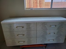 white and gray 6 drawer dresser in 29 Palms, California