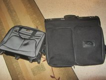 Samsonite rolling briefcase and Garment bag in Fort Bliss, Texas