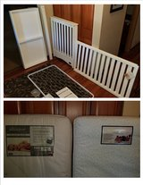 Bonavita White Convertible Crib/Toddler Bed and Beautyrest Mattress or choice in Naperville, Illinois