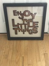 """Enjoy the Little Things"" Metal Letters Artwork in St. Charles, Illinois"