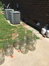 (3) 5 Gallon Carboys with Drilled Stopper and Air Lock in Fort Campbell, Kentucky