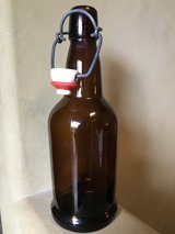 36 Brown Glass EZ Cap 16oz Bottles w/ Swing Tops in Wheaton, Illinois