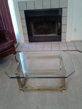Brass and Glass Coffee Table in Fort Belvoir, Virginia