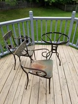 Metal Cafe chairs & table base in St. Charles, Illinois