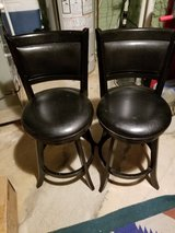 2 x Black High Back Swivelling Bar Stools in St. Charles, Illinois