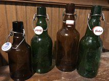 Various size glass bottles for home brewing (qty 28) in Naperville, Illinois