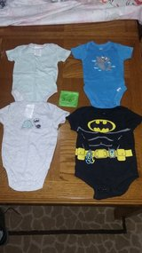2 baby clothes onesies   shorts socks clothes hanger pants in Moody AFB, Georgia