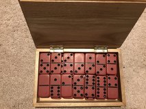 Domino Set In Wooden Hinged Box in Oswego, Illinois