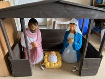 3 Pcs Nativity Set with Wood Manger in Warner Robins, Georgia