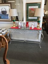 Glass and Metal Sofa Table in Chicago, Illinois