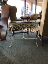 Glass and Metal End Table in St. Charles, Illinois
