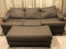 Full size couch with ottoman in Naperville, Illinois