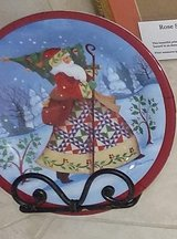 Jim Shore Collector's Plate with stand: Santa and Christmas Tree in Kingwood, Texas