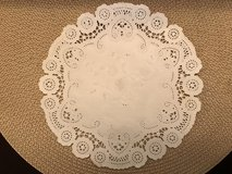 17 Paper French Lace Dollies (8 inch diameter) by Royal Lace in Chicago, Illinois