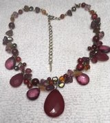 Necklace Burgundy Beads Different Styles and Shapes Lightweight Extension Chain in Kingwood, Texas