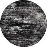 10' Diameter Safavieh Adirondack Collection Modern Abstract Area Rug, Round, Silver/Black in Batavia, Illinois