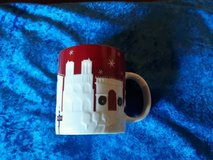 Paris red Christmas relief Starbucks mug in Heidelberg, GE