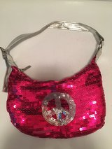 Justice pink sequin girls purse in Naperville, Illinois