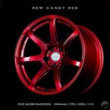 """Work Emotion T7R wheels, 16"""" Candy Red in Okinawa, Japan"""