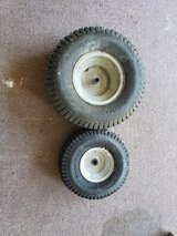 troy bilt lawnmower wheels 1 front 1 rear in Beaufort, South Carolina