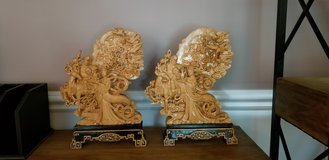 Set of 2  China Boxwood Hand Carved Statues in Fort Belvoir, Virginia