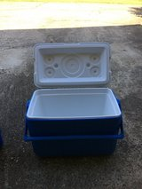 Blue Coleman Cooler for Sale in Fort Benning, Georgia