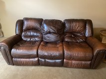 Leather reclining sofa in Naperville, Illinois