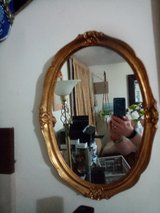 Large Oval Gold Gilt Effect Tinted Mirror in Lakenheath, UK