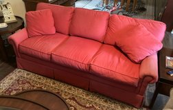 Living Room Sofa Color Salmon (Red?) Pre-Owned! in Beaufort, South Carolina