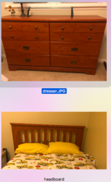 Dresser and head board in Plainfield, Illinois