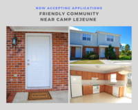 2 Bed // 1.5 Bath, Open Now in Camp Lejeune, North Carolina