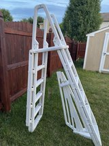 Above ground pool ladder in Plainfield, Illinois