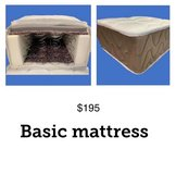 Basic Queen size mattress with springs in Ramstein, Germany