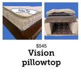 Vision Queen size mattress with foam topper in Ramstein, Germany