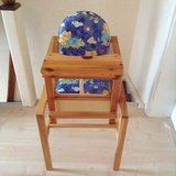 German All wood high chair/ Table Excellent condition in Ramstein, Germany