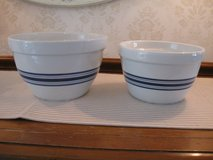 Blue Striped Nesting Bowls-Set of 2-Crate and Barrel in Joliet, Illinois