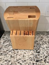 Solid Wood Knife Block in Cary, North Carolina