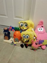 Spongebob toy collection in Beaufort, South Carolina